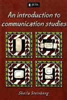 An Introduction to Communication Studies PDF