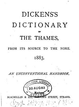 DICKENS S DICTIONARY OF THE THAMES PDF