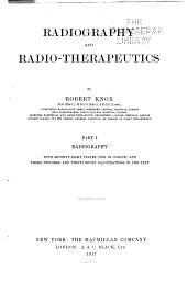 Radiography and Radio-therapeutics: Volume 1