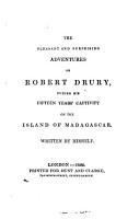 The Pleasant and Suprising Adventures of Robert Drury PDF