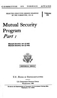 Mutual Security Program PDF