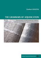 The grammars of adjudication PDF