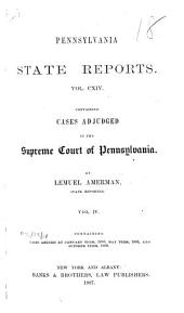 Pennsylvania State Reports: Volume 114