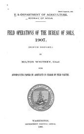 Field Operations of the Bureau of Soils: Volume 9
