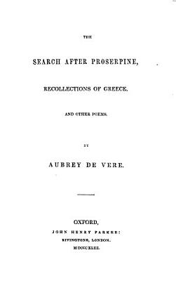 The Search After Proserpine