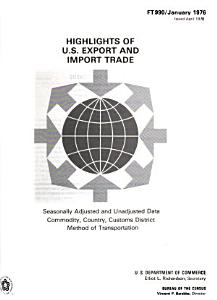 Highlights of U S  Export and Import Trade PDF