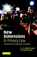 New Dimensions in Privacy Law PDF