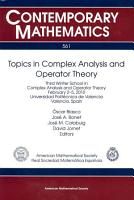 Topics in Complex Analysis and Operator Theory PDF