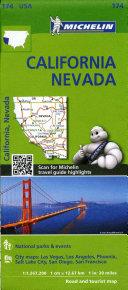 Michelin USA California, Nevada Map 174
