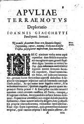 Apuliae terraemotus deploratio Ioannis Giacchetti ..
