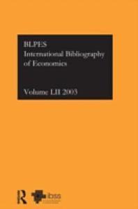 International Bibliography Of Economics 2003 PDF