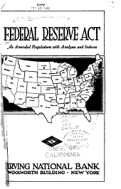 Federal reserve act, as amended with Regulations, analyses and indexes
