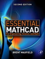 Essential Mathcad for Engineering  Science  and Math PDF
