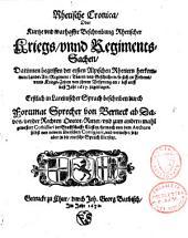 Rhetische Cronica, Oder ... Beschreibung Rhetischer Kriegs-unnd Regiments-Sachen ... Erstlich in Lateinischer Sprach beschriben ... jetzt aber in die teutsche Sprach übersetzt
