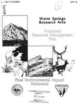 Warm Springs Resource Area: proposed resource management plan, final environmental impact statement