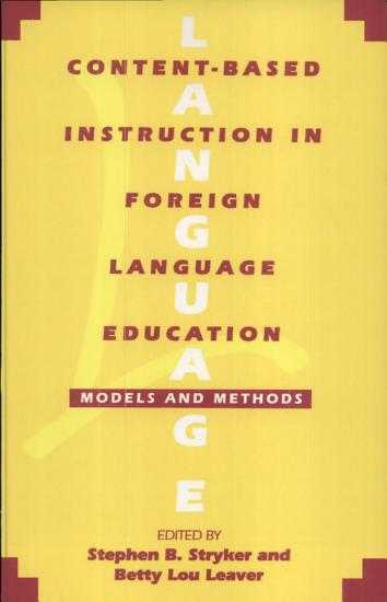 Content Based Instruction in Foreign Language Education PDF