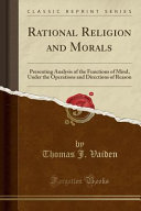 Rational Religion and Morals PDF