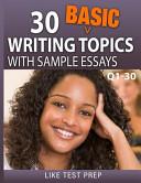 30 Basic Writing Topics with Sample Essays Q1 30