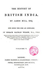 The history of British India: Volume 10