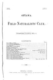Transactions - Ottawa Field-Naturalists' Club: Issues 1-7