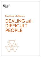 Dealing with Difficult People  HBR Emotional Intelligence Series  PDF