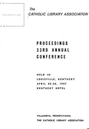 Proceedings  of The  Annual Conferences