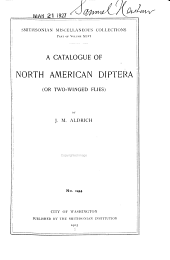 A Catalogue of North American Diptera (or Two-winged Flies)