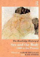 The Routledge History of Sex and the Body PDF