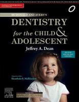McDonald and Avery s Dentistry for the Child and Adolescent   E Book PDF