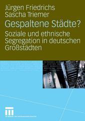 Gespaltene Städte?: Soziale und ethnische Segregation in deutschen Großstädten
