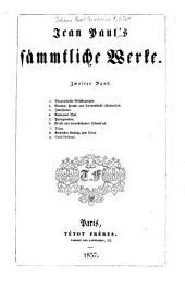 Jean Paul's sämmtliche Werke: Band 2,Teil 1