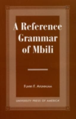 A Reference Grammar of Mbili PDF