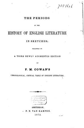 The Periods of the History of English Literature in Sketches PDF