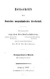Zeitschrift der Deutschen Morgenländischen Gesellschaft: ZDMG, Band 19