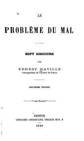 Le problème du mal: sept discours