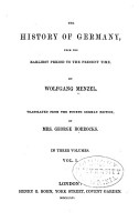 The History of Germany  from the Earliest Period to the Present Time PDF