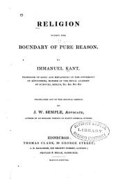 Kant's Theory of Religion