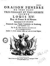 Oraison funèbre de... Louis XIV... par le R. Père Louis Laguille... [Cathédrale de Strasbourg, 18 nov. 1715]