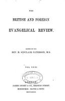The British and Foreign Evangelical Review and Quarterly Record of Christian Literature PDF