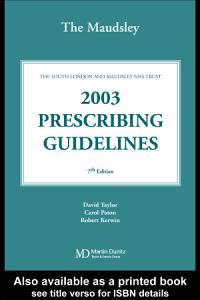 The Maudsley 2003 Prescribing Guidelines PDF