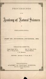 Proceedings of The Academy of Natural Sciences (Part III -- Nov.-Dec., 1884)