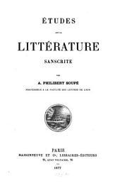 Études sur la littérature sanscrite