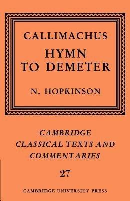 Callimachus  Hymn to Demeter PDF