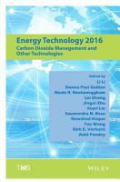 Energy Technology 2016 PDF