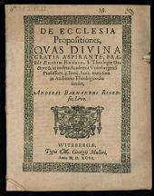 De ecclesia propositiones