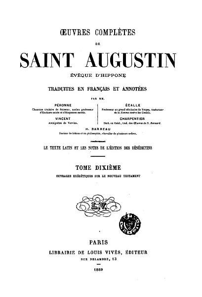 uvres compl  tes de Saint Augustin