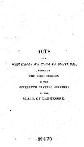 Acts Passed at the General Assembly of the State of Tennessee