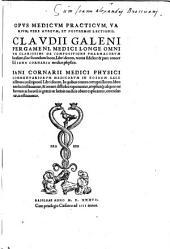 De compositione pharmacorum localium, sive secundum locos, Libri decem, recens fideliter et pure conversi a Jano Cornario. Acced. Jani Cornarii Commentariorum medicorum Libri X.