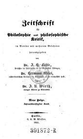 Zeitschrift für Philosophie und philosophische Kritik: Band 38
