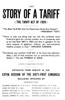 Story of a Tariff  the Tariff Act of 1909      PDF